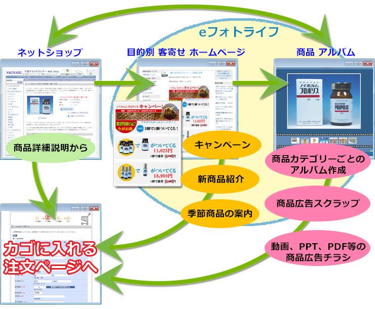 キャンペーン、新商品紹介、季節商品のPR